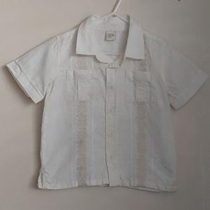 Old Navy Baby Boys Guayabera Shirt 3T